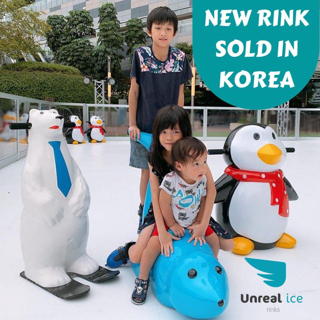 Patinoire synhtétique Unreal Ice en Corée du Sud